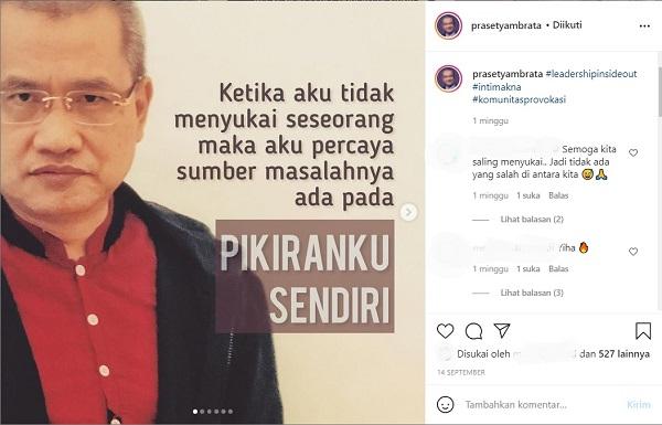 Pak Prasetyambrata memaknai luka menuju performa
